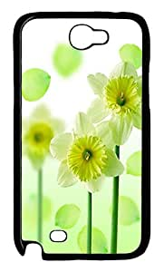 Green Flowers Polycarbonate Hard Case Cover for Samsung Galaxy Note II N7100šCBlack