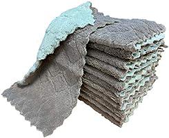 kimteny 12 Pack Kitchen Cloth Dish Towels, Premium Dishcloths, Super Absorbent Coral Velvet Dishtowels, Nonstick Oil...