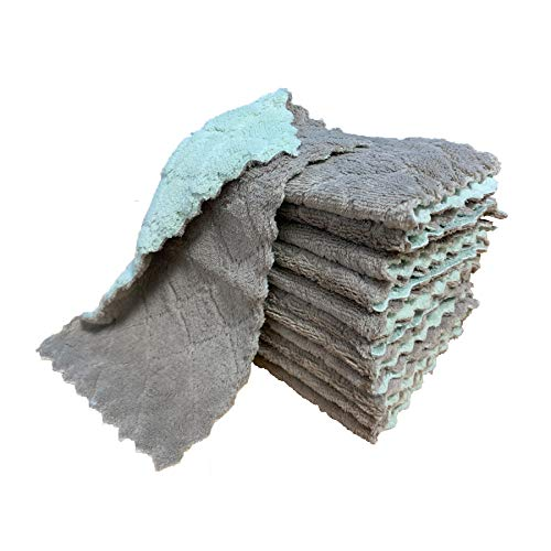 kimteny Dishcloths Absorbent Dishtowels Green Grey product image