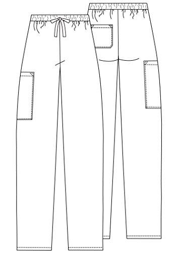 Adar Universal Natural-Rise Multipocket Cargo Tapered Leg Pants - 506 - Navy - M by ADAR UNIFORMS (Image #5)