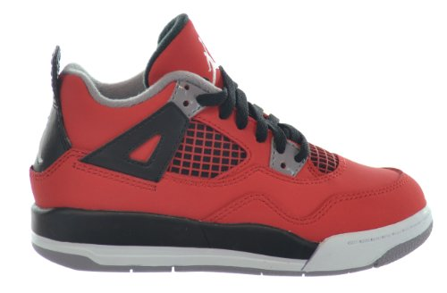 Jordan 4 Retro (PS) ''Toro Bravo'' Little Kids Shoes Fire Red/White-Black-Cement Grey 308499-603-2.5 by Jordan
