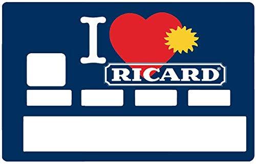 I Love RICARD, Pegatinas para tarjeta de crédito: Amazon.es ...