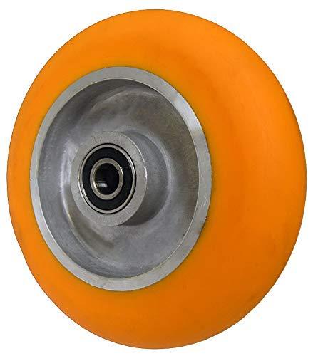 Caster Barn - 6x2 Orange Polyurethane on Aluminum Wheel - 1,000 lbs Capacity