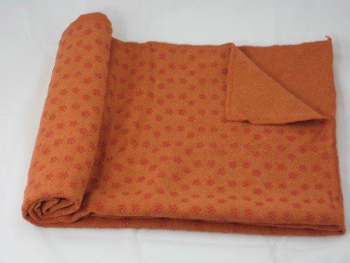 "Microfiber Yoga Towel Yoga Mat 24""x71"" + Carry Bag- Orange Color"