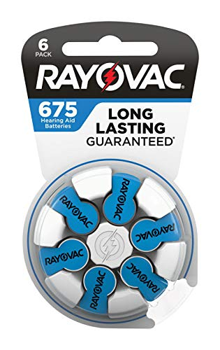Rayovac 3537131 1.45V Zinc-Air 675 Hearing Aid Battery44; 8 per Pack - Pack of 4