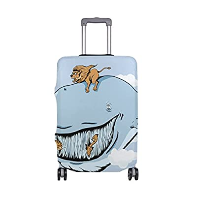best Blue Whale Luggage Cover Elastic Suitcase Protector Fits 18-32 Inch