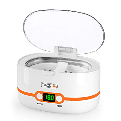 Ultrasonic Cleaner, Compact Professional Ultrasonic Jewelry Cleaner 20 Ounces(600ML) with Digital Timer, Watch Holder, SUS Tank for Cleaning Eyeglasses, Watches, Dentures - MUC02