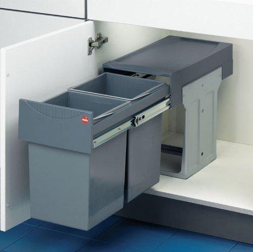 (Drawer Slide-Out Double Waste Bin - 30 Liter)