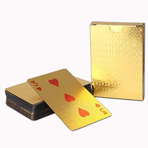 EDTara 防水ポーカーカードセット ブラックゴールド トランプ ゲームコレクションカード 子供用 大人用 ボードゲーム おもちゃ ギフト TXtoys-GL0920-A76490AB13