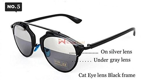 So Real sunglasses metal frame reflective mirror glasses for men and women couple Women Men Brand Designer