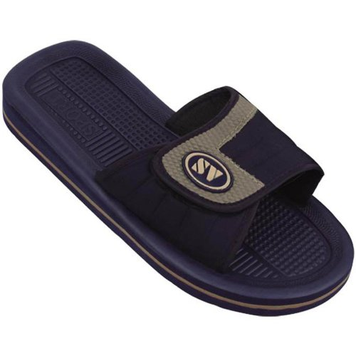 SV Mens Sandals Flip Flops Adjustable Strap 2 Colors Slide Sandals Slip on Slippers Sports Shoes Sizes Navy DgB3u5Nh8Q
