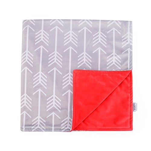 Coral Fleece Stroller Blanket (Towin Baby Arrow Minky Double Layer Receiving Blanket/Pet Dog Cat Blanket, Coral)