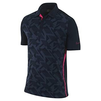 Polo Nike azul marino abstracto de Katrina revenaugh/Jacquard rosa ...