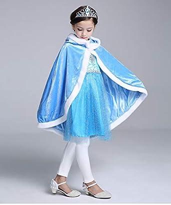 GooKit Princess Cape Cloaks Girls Princess Costumes Christmas Party Dress Up 3-12 Years