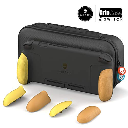 Skull & Co. GripCase Set: A Comfortable Protective Case with Replaceable Grips [to fit All Hands Sizes] for Nintendo Switch - Pokemon Edition