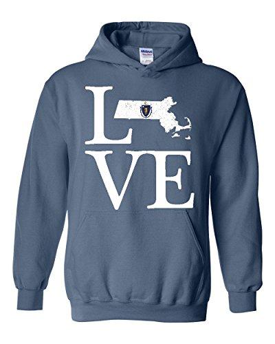 Love Massachusetts State Flag Traveler`s Gift Unisex Hoodies