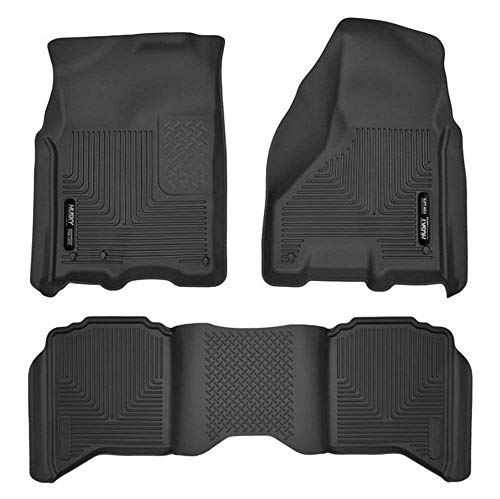 (Husky Liners 53511/53601 Black Front & 2nd Row X-act Contour Floor Liners for Ram 1500/2500/3500)