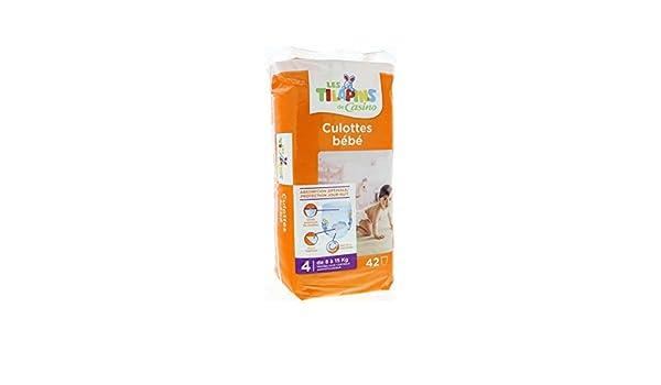 LES TILAPINS Culottes bébé Taille 4 - 8 a 15 kg - 42 couches: Amazon.es: Bebé