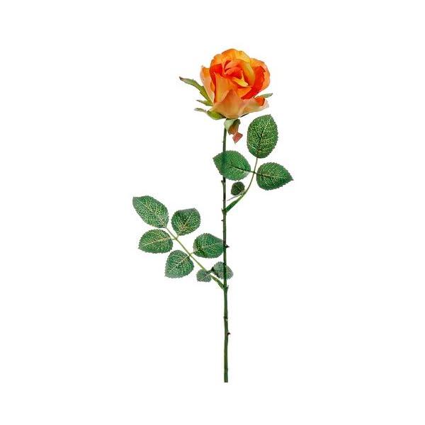 27″ Tall Rose Bud Spray Orange Yellow (Pack of 24)