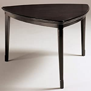 Amazoncom Dark Brown Triangle Dining Room Counter Table by