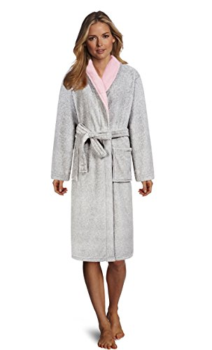 Classic Robe Terry (Plush Coral Fleece Shawl Collar Kimono Bath Spa Robe,Classic Long Staple Terry Cloth Pajamas,Warm Bedtime Wrap Sleepwear for Family)