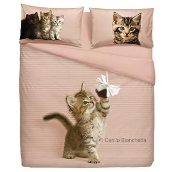 lenzuola matrimoniali con gatti