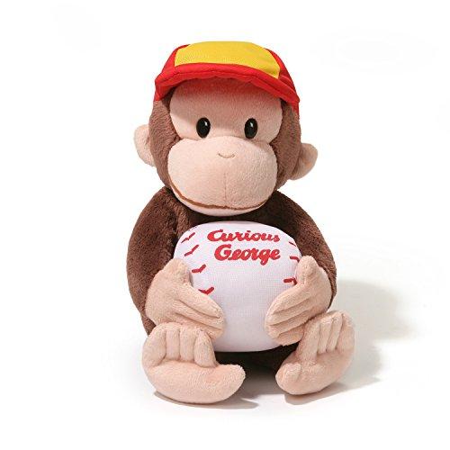 Gund Curious George Baseball Plush, 11