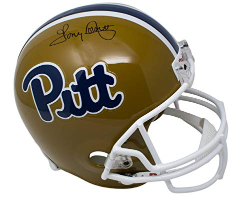 (Tony Dorsett Signed Pittsburgh Panthers Full Size Replica Helmet JSA)