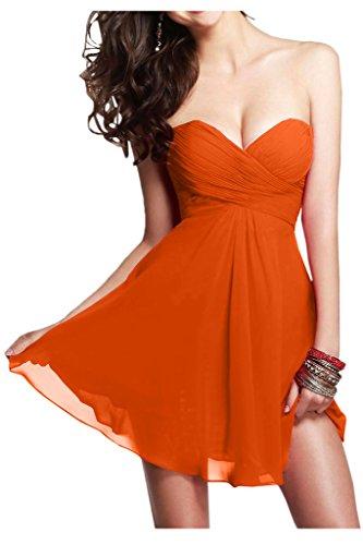 Ivydressing Linie Abendkleid A Kurz Chiffon Orange Damen ZXnqZPIv