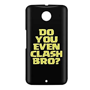Loud Universe Nexus 6 Do You Even Clash Bro? Print 3D Wrap Around Case - Black/Yellow