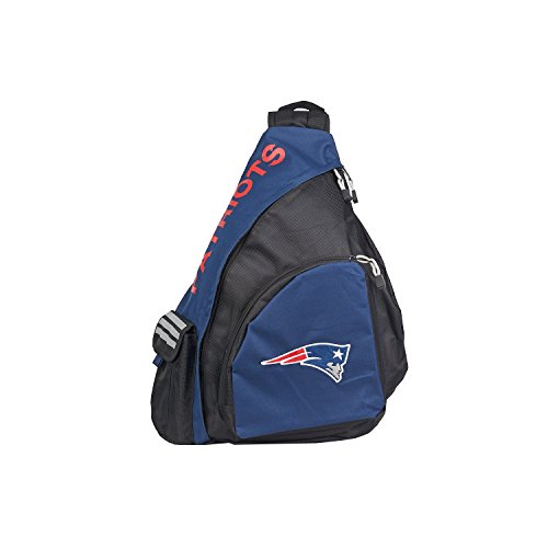 - Officially Licensed NFL New England Patriots Leadoff Slingbag