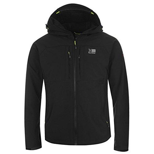 bolsillos parte con de práctica amarillo para en negro con de blanda Karrimor texto ventilación la chaqueta carcasa con capucha la de de interior de Alpiniste AT0Rqw