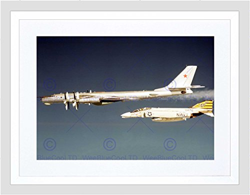 - Military AIR Plane Fighter Jet F4B Phantom Navy USAF Framed Art Print B12X3585