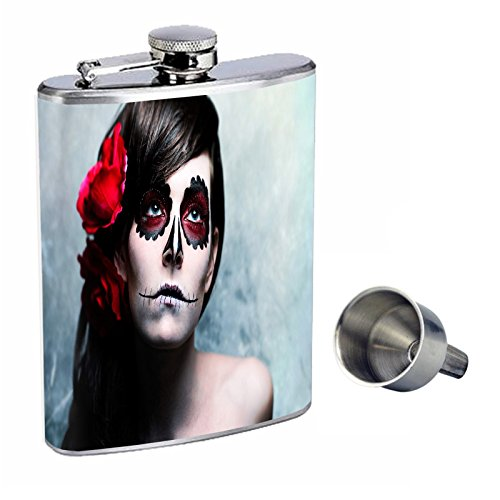 日本初の シュガースカルPerfection d-009 inスタイル8オンスステンレススチールWhiskey Funnel Flask with with Free Funnel d-009 B01669TSAG, 良品特価 【モノイズム】:3fd4597a --- domaska.lt
