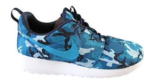 NIKE ROSHERUN PRINT mid navy blue lagoon dark electric blue white 441