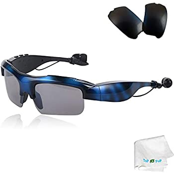 Bluetooth Sunglasses Wireless Sport Glasses Stereo Music Sunglasses Headset Headphones with Replacement Polarized Lens For Men Women Samsung Galaxy S8 S7 S6 ...