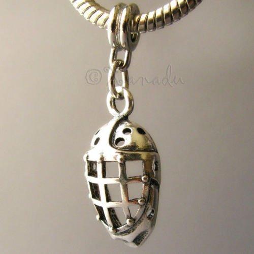 OutletBestSelling Pendants Beads Bracelet Hockey Goalie Mask Large Hole Charm For European Charm - Hockey Goalie Mask Charm