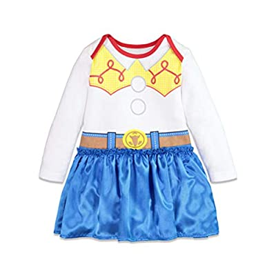 Disney Toy Story Jessie Toddler Girls Costume Onesie Dress & Headband: Clothing