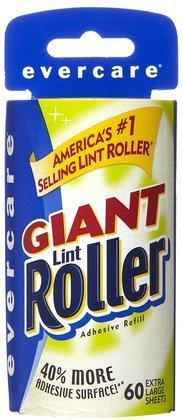 Evercare Giant Lint Roller, Extra Large Sheets Refill-60ct (Quantity of 5)