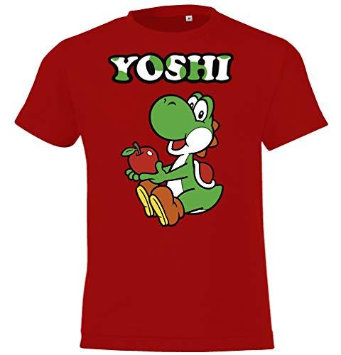 T-shirt met korte mouwen van Yoshi-motief voor jongens en meisjes