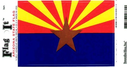 truck or boat Arizona flag decal for auto