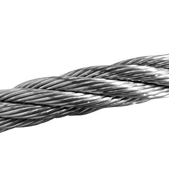 Amazon.com: Cable de alambre de acero inoxidable de 1/2 ...
