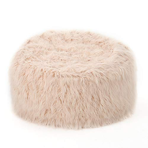 Christopher Knight Home Lycus Faux Fur Bean Bag Chair (Pastel Pink)