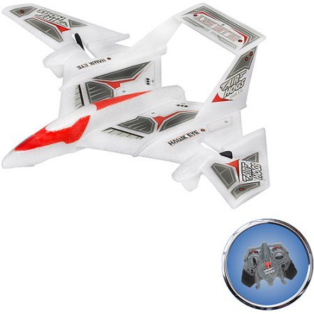 Air Hogs Radio-Controlled Hawk Eye Blue Sky Plane, White has an on-board video (Blue Toys Radio Controlled Planes)