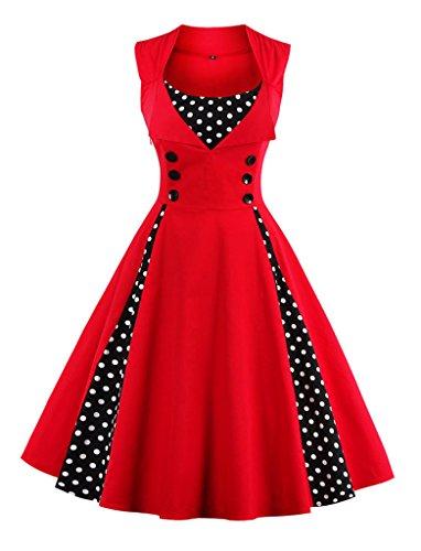 Kleid rot 80er