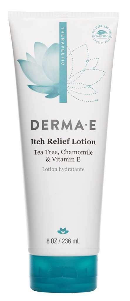 Derma e Itch Relief Lotion with Tea Tree, E and Chamomile, 8 Ounce
