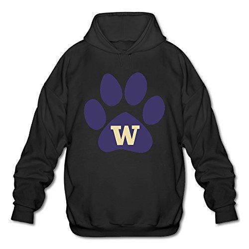 BOOMY Washington Huskies Footprint Man's Hooded Sweatshirt SIZE XL