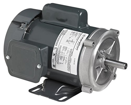 Marathon 56C17F5358 General Purpose Motor, 1 Phase, TEFC, C-Face, Ball Bearing, 1/3 hp, 1800 RPM, 1 Speed, 115/208-230 VAC, 56C Frame, Capacitor Start ()