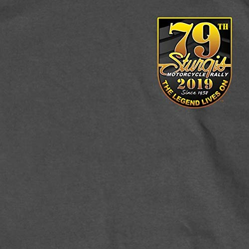 Hot Leathers Mens T-Shirt CHAR Medium SPM1769