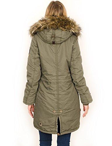 Khujo para 326sm oliv Chaqueta Jacket Ilena Nylon Mujer Washed wqfTw
